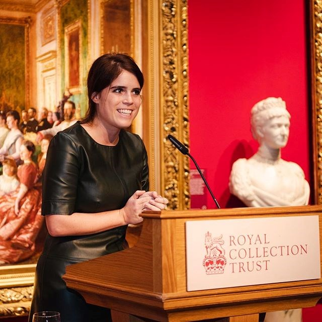 Eugenie's edgy leather dress only costs AUD$55! *(Image: Instagram / @princesseugenie)*