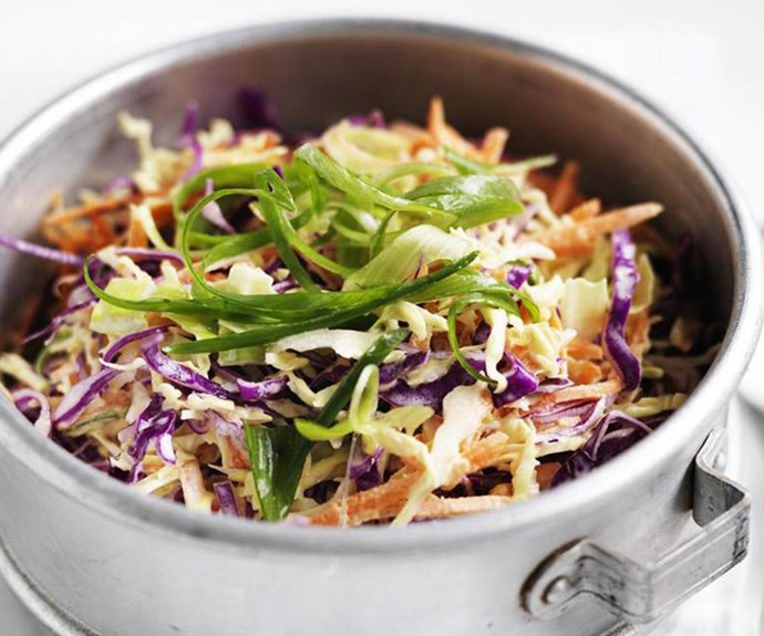 """**Coleslaw** <br><br> This is a classic salad recipe that's perfect as an accompaniment to ham, turkey or seafood.  <br><br> See the full *Australian Women's Weekly* recipe [here](https://www.womensweeklyfood.com.au/recipes/coleslaw-8979