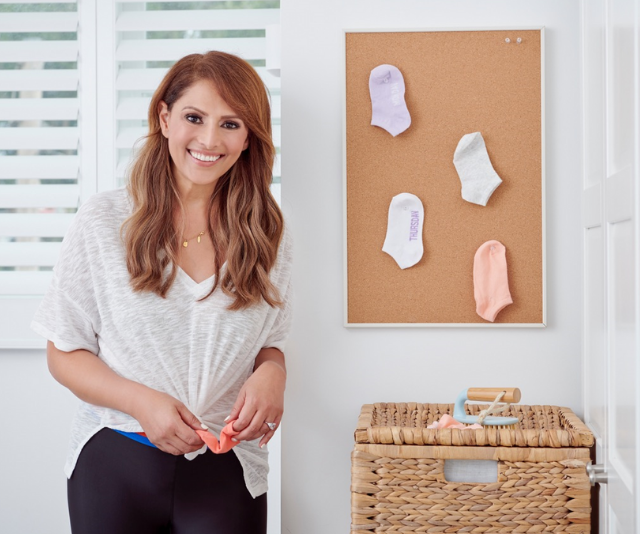 **Lone socks no more:** Place a cork board in your laundry and when a lone sock appears pin it to the cork board. That way when another lonely sock appears somewhere in the house (or car, or sports bag...!) you know exactly where to find its partner. *Image: Supplied.*