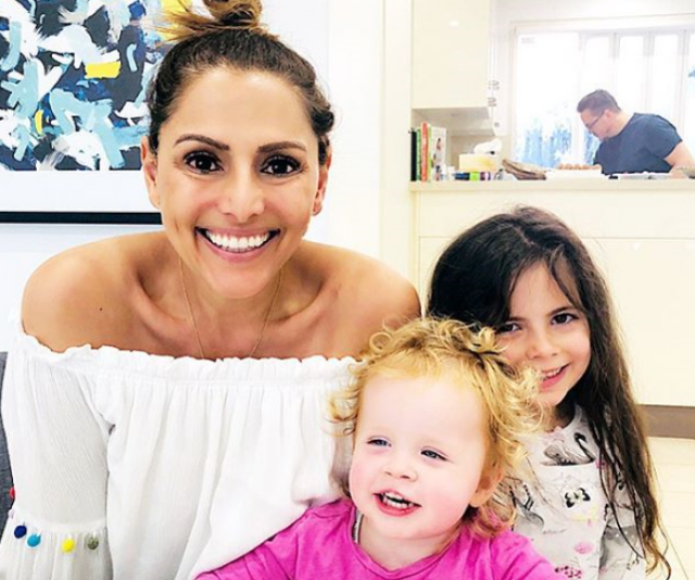 Sally with her daughters, Annabelle Grace, 7 and Elyssa Rose, 2. *Image: Instagram/SallyObemeder*