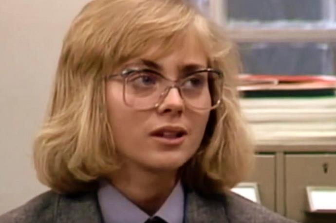 "**27) PLAIN JANE GETS A MAKEOVER** <br><br> In 1986, Charlene gave ""Plain Jane Superbrain"" (Annie Jones) a makeover and she won the heart of Mike Young (Guy Pearce)!"
