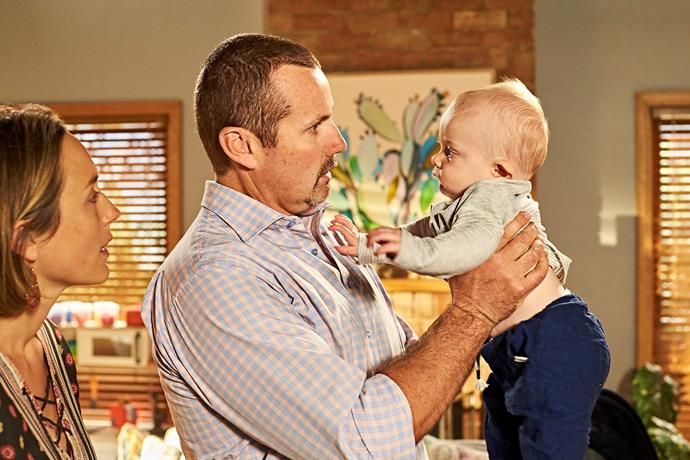 **31) WHO IS HUGO'S DAD?** <br><br> As if Dee Bliss' (Madeleine West) return wasn't enough, this year, a DNA test proved baby Hugo (John Turner) was her love child with Toadie.  <br><br> The shock news meant Toadie and Sonya had to put their plans to have a child via IVF on hold.
