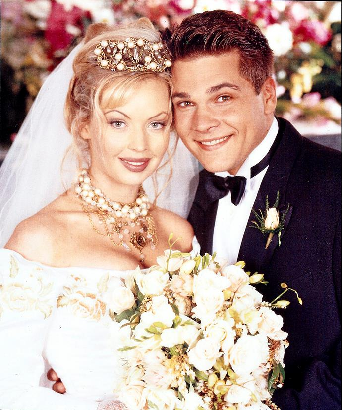 "**39) ANNALISE JILTED AT THE ALTAR** <br><br> If Scott and Charlene's wedding was a dream, then Annalise Hartman (Kimberley Davies) and Mark's Gottlieb (Bruce Samazan) big day in 1994 was an absolute nightmare.  <br><br> She was hoping for ""I do"", but got ""I don't"", as Mark realised he didn't want to be a husband – he wanted to be a priest!"