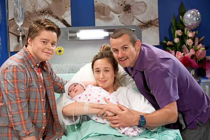 **45) NELL REBECCHI'S TRAUMATIC AT-HOME BIRTH** <br><br> When Nell (Scarlett Anderson) was born in 2013, Toadie and Sonya (Eve Morey) were thrilled to be parents.  <br><br> Nell was delivered by emergency caesarean after Sonya had complications during the homebirth.