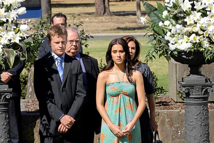 **48) MARCO'S BUSHFIRE DEATH** <br><br> In 2008, *Neighbours* fans wept when Marco Silvani (Jesse Rosenfeld) died in a bushfire.  <br><br> His death was especially memorable because, during his tear-jerking funeral, he returned to his grieving wife Carmella Cammeniti (Natalie Blair) as a vision.