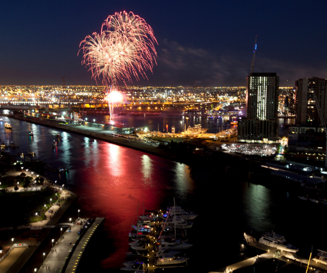 **Kings Domain (use Flinders Street Station):** You'll need to get here early to secure a spot, for good reason, the view is amazing. *Image: Melbourne fireworks Getty Images.*