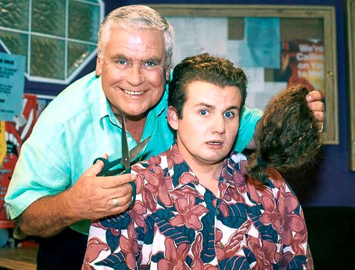 **50) TOADIE FAREWELLS THE MULLET** <br><br> Never before had a haircut created so much buzz! <br><br> After years of having one of the worst haircuts TV had ever seen, Ryan Moloney decided he wanted his character Toadfish Rebecchi to lose the mullet. <br><br> So with a plotline that he would do it for charity, in 1999, Lou gleefully chopped it off.