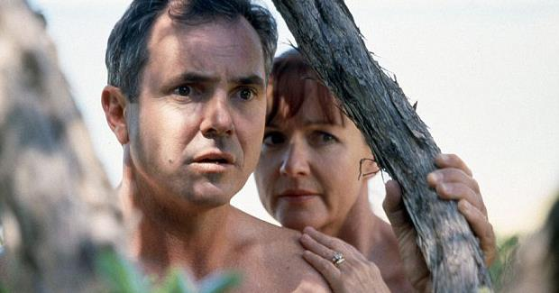 **40) THE KENNEDYS GO SKINNY-DIPPING** <br><br> They're one of TV's most enduring couples, but Dr Karl Kennedy (Alan Fletcher) and wife Susan  weren't always so respectable.  <br><br> Like the time they got sprung skinny-dipping in their neighbour's spa in 1995. And it wasn't the last time they appeared nude in *Neighbours*!