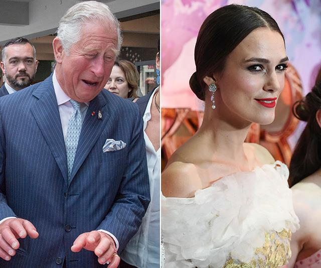 Keira Knightley made quite an impression on Prince Charles at a recent engagement. *(Images: Getty)*