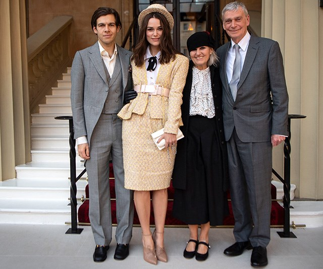 Keira's husband and parents joined her as she received the top honour. *(Image: Getty)*