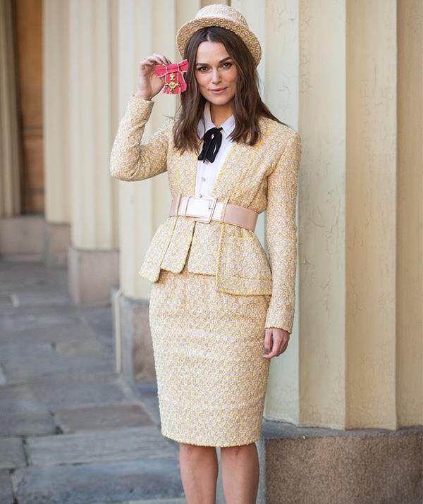 Keira proudly posed with her honour following the engagement. *(Image: Getty)*
