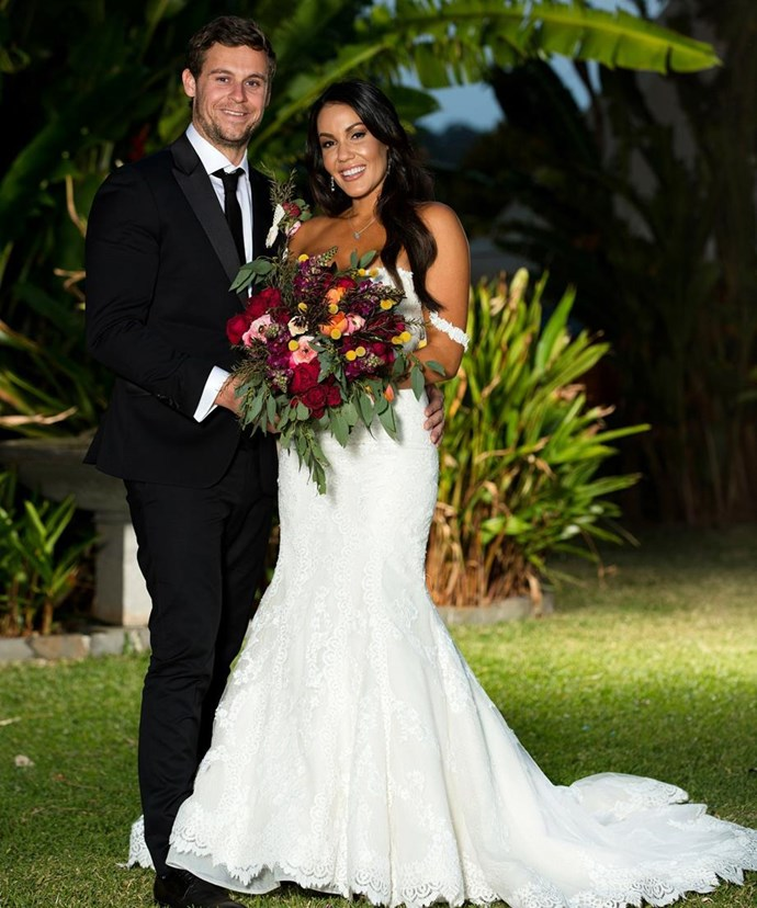 "Ryan and his ""ex-wife"" Davina Rankin during *Married at First Sight*. *(Source: Getty)*"