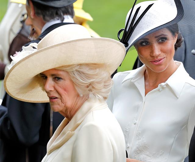 Meghan's outfit choices are the cause of grief to the Duchess of Cornwall. *(Image: Getty)*