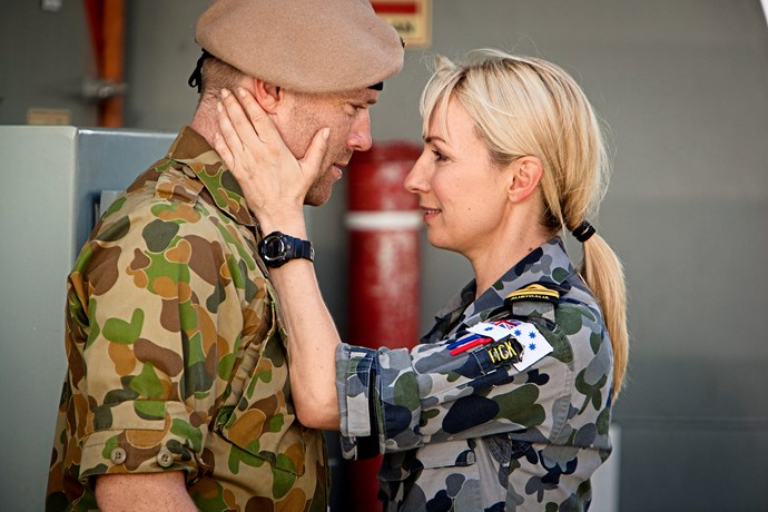 Lisa with SAS Captain Jim Roth, played by Ditch Davey