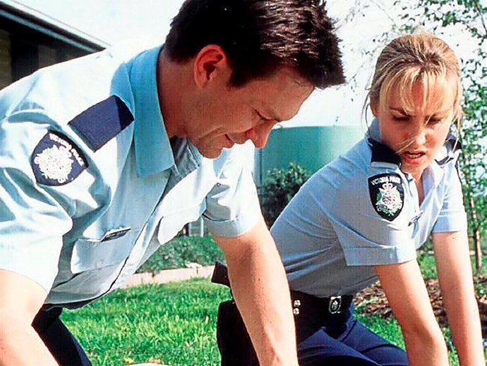 Lisa in one of her more iconic roles on *Blue Heelers*.