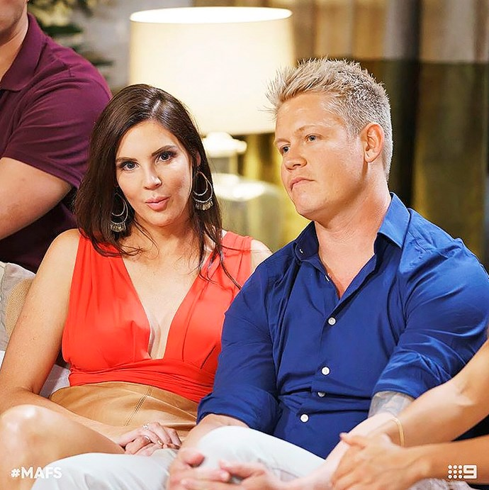 Tracey with Sean in the MAFS finale.