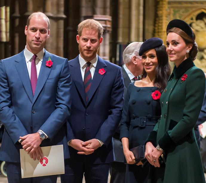 The tension is reportedly between William and Harry, not Meghan and Kate.
