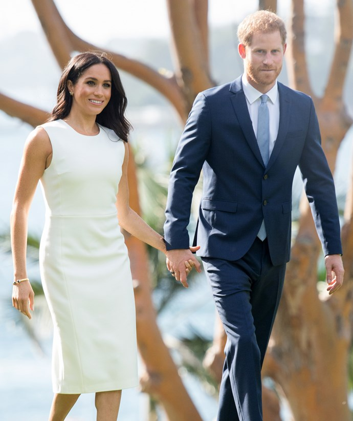 The first glimpse of the royal baby bump in Sydney. *(Image: Getty)*