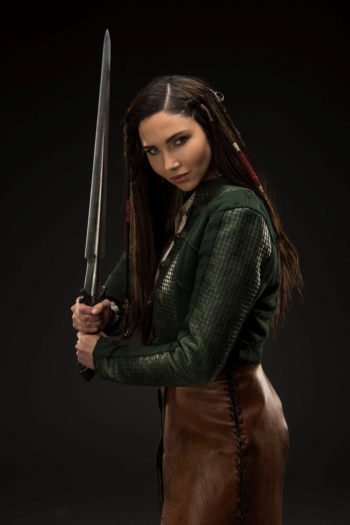 Jessica Green as Talon in *The Outpost*.