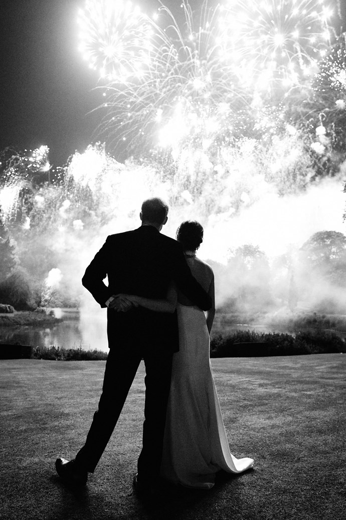 Prince Harry and Duchess Meghan shared a stunning picture from their wedding day in May for their Christmas card for 2018. *(Image: Chris Allerton / PA)*