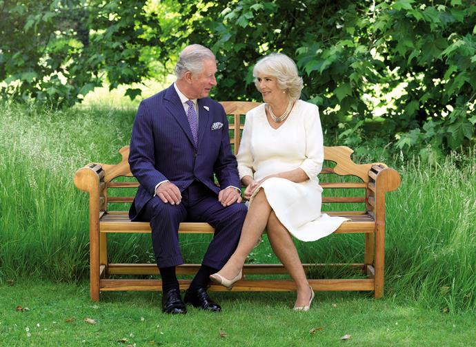 Prince Charles and Camilla shared a sweet snap of themselves for Christmas 2018. *(Hugo Burnard / PA)*