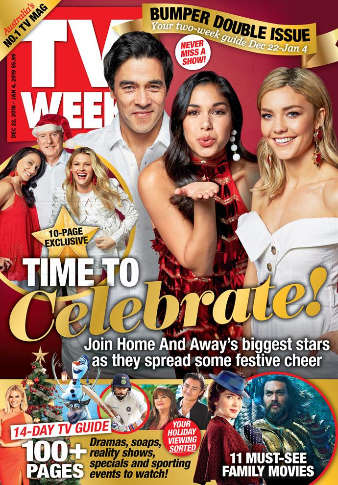 Pick up your copy of TV WEEK to see more photos from our exclusive shoot with the cast of *Home and Away*, and to read our interviews with your favourite stars. Our special Double Issue is on sale now!