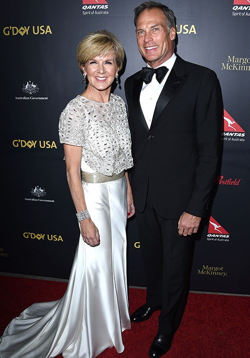 Attending the G'Day USA gala with partner David in 2016, the pair looked every bit the glam power couple. *(Image: Getty)*