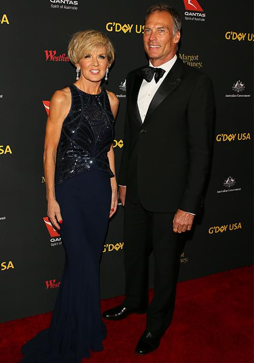 This stunning midnight gown worn by Bishop at the 2017 G'Day USA Black Tie Gala looked striking as she took to the red carpet. *(Image: Getty)*