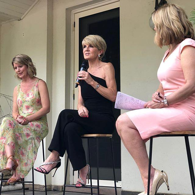 "On Saturday, December 15, Bishop wore a stunning one-shoulder black jumpsuit that showed off her femininity and knack for style.   <br><br> The 62-year-old spoke candidly at the event, which was to launch the Future Women Club. Discussing the issues around the small number of women in politics, she said: ""We can all do something about that... I hope that as Australia's first female foreign minister, I've done a little bit because I wanted to ensure that I made it easier for the next woman to be foreign minister, not harder."" *(Image: Instagram / @juliebishopmp)*"