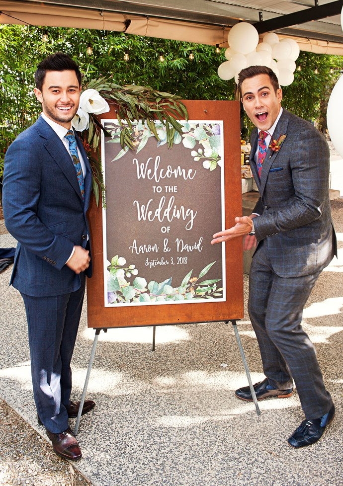 David and Aaron's wedding was  a special TV first.