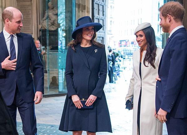 Kate wore a striking navy blue Beulah London ensemble with a Lock & Co hat for the Commonwealth Day celebrations in March. *(Image: Getty)*