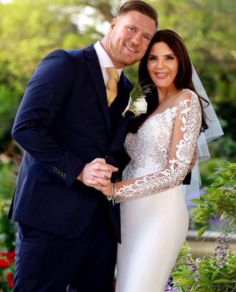 Tracey Jewell with her *MAFS* husband, Dean Wells. *(Source: Nine Network)*