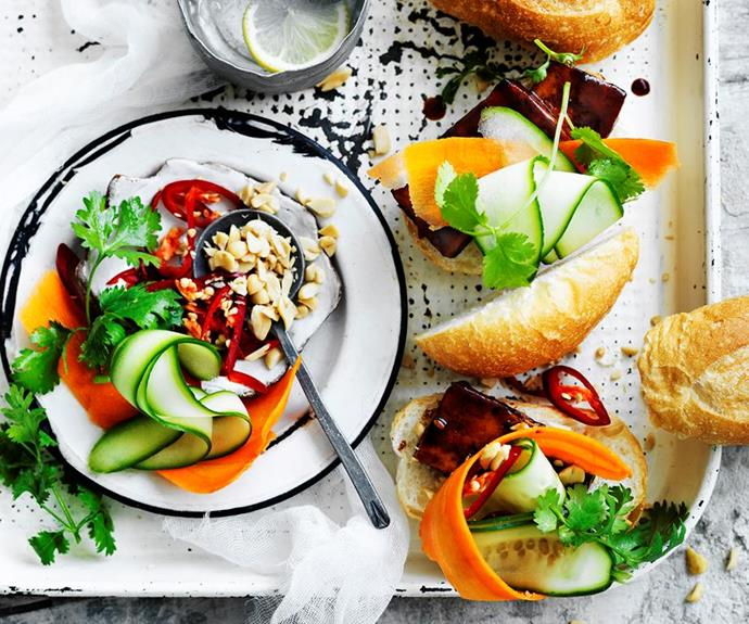 """**Roasted sticky tofu buns** <br><br> Recreate an authentic Asian classic with these delicious roasted sticky tofu buns - quick, easy and completely meat free! <br><br> See the full *Australian Women's Weekly* recipe [here.](https://www.womensweeklyfood.com.au/recipes/roasted-sticky-tofu-buns-29435 target=""""_blank"""")"""