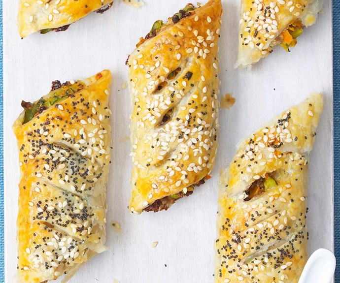 "**Vegetarian sausage rolls** <br><br> We reckon even the non-vegos at your Australia Day bash will love these! <br><br> See the full *Australian Women's Weekly* recipe [here.](https://www.womensweeklyfood.com.au/recipes/vegetarian-sausage-rolls-22730|target=""_blank"")"