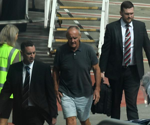 Chris Dawson arriving in Sydney following his formal charge. *(Image: AAP)*