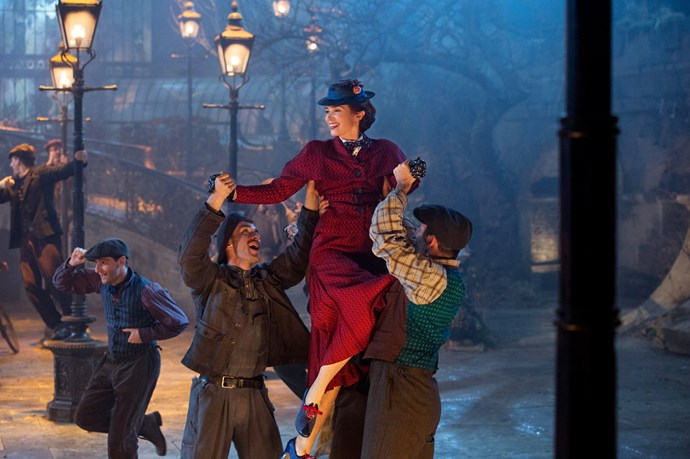 Emily gets to sing and dance in *Mary Poppins Returns*.