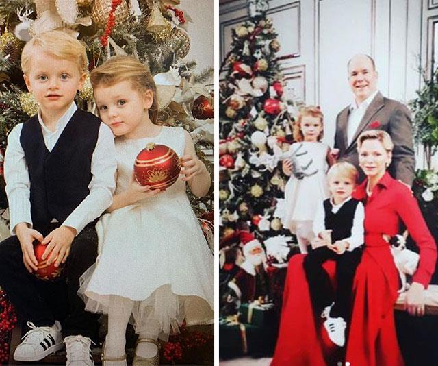 "We didn't think it was possible but the Monaco Royal Family's Christmas card just gets cuter every year. Twins Princess Gabrielle and Prince Jacques steal the show as they pose with baubles (L), before cuddling up to parents [Prince Albert](https://www.nowtolove.com.au/tags/albert-ii-prince-of-monaco|target=""_blank"") and [Princess Charlene.](https://www.nowtolove.com.au/tags/charlene-princess-of-monaco