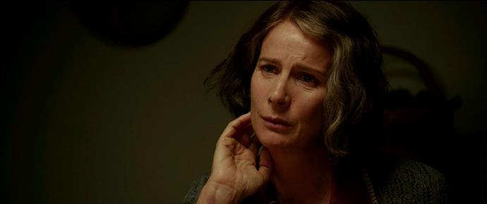 Rachel as Bertha in *Hacksaw Ridge*.