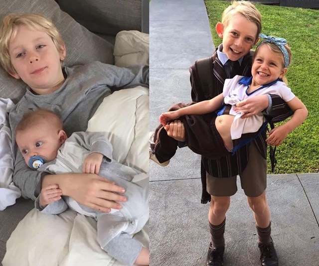 Despite their seven year age gap, Ollie and Evie have always had a close bond. *(Image: Instagram @bickmorecarrie)*