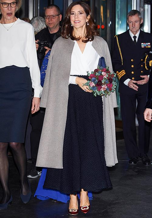 Mary cut an elegant figure as she stepped out for a Christmas concert this week. *(Image: Mega)*