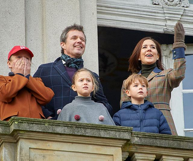 The Danish royals are in for a cosy white Christmas this year. *(Image: hbgbild/MEGA)*