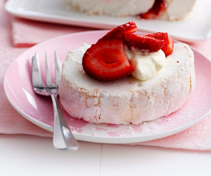 """**Pavlova roulade** <br><br> The humble pavlova, or """"pav"""", is an essential dessert for any Aussie celebration. For a change, why not try this swiss role-style variation? <br><br> See the full *Australian Women's Weekly* recipe [here](https://www.womensweeklyfood.com.au/recipes/pavlova-roulade-2969