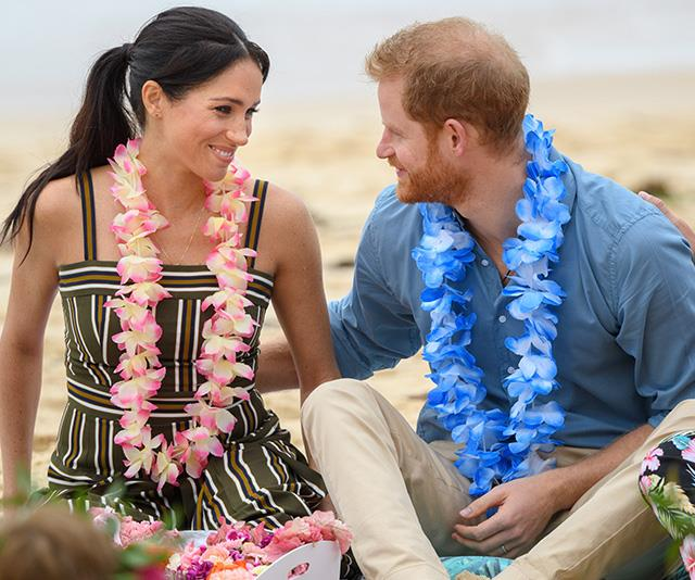 "The newly minted Duke and Duchess of Sussex also [visited Bondi Beach](https://www.nowtolove.com.au/royals/british-royal-family/prince-harry-meghan-markle-bondi-51926|target=""_blank"") while on their royal tour of Australia. The visit included a discussion with OneWave, a local surfing community group which works to raise awareness for mental health and well-being in a fun and engaging way. <br><br> It was clear the royals were feeling good vibes themselves during the event as they shared a number of warm exchanges. Jackson reflected on the moment: ""It captures the deep affection these two obviously have for one another."" *(Image: Chris Jackson / Getty Images)*"