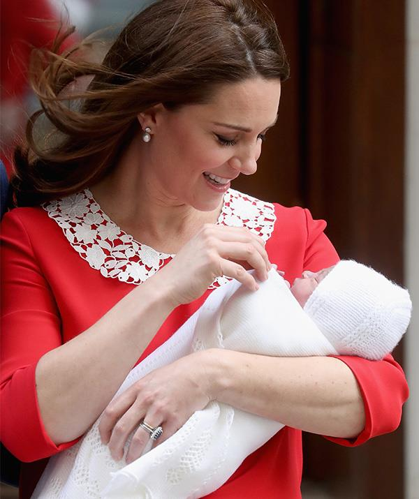 "In a moment the world had been waiting for, Duchess Catherine and Prince William welcomed their third child, Prince Louis in April. As Kate stepped out just hours after giving birth, Chris captured this stunning moment between the new mother and son.   <br><br> Chris said of the special occurence: ""This image really speaks for itself, the love between a mother and her son... As somebody with a child on the way, this image really stirs up a lot of emotions in me."" *(Image: Chris Jackson / Getty Images)*"