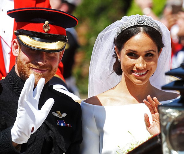 """And Chris couldn't forget the wedding of the year - Meghan and Harry's [royal wedding in May](https://www.nowtolove.com.au/royals/british-royal-family/duchess-meghan-markle-wedding-dress-blue-51396
