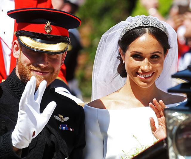 "And Chris couldn't forget the wedding of the year - Meghan and Harry's [royal wedding in May](https://www.nowtolove.com.au/royals/british-royal-family/duchess-meghan-markle-wedding-dress-blue-51396|target=""_blank"") was a sight to behold. This image, captured moments after the pair had formally become husband and wife, laments the beginning of a new chapter as they began married life. *(Image: Chris Jackson / Getty Images)*"