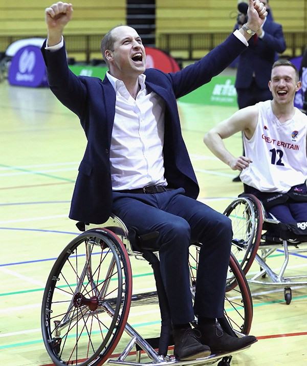 This image of a triumphant Prince William playing wheelchair basketball in March is a beautiful reflection of the special moments that come with the royals' numerous public engagements. *(Image: Chris Jackson / Getty Images)*