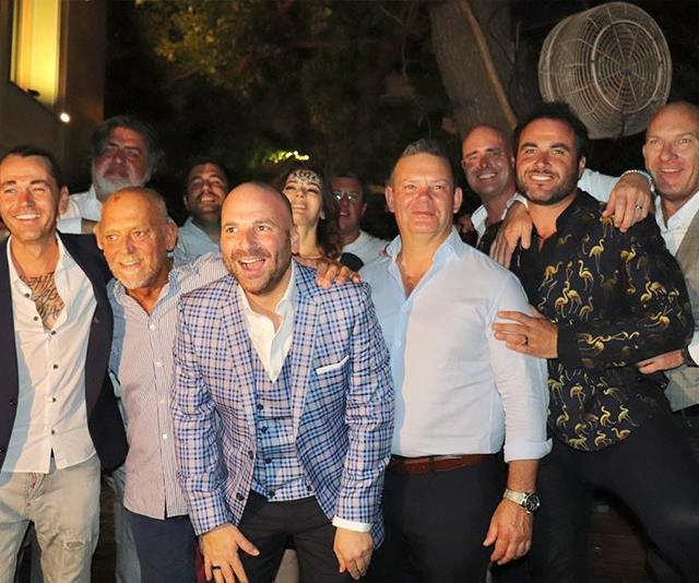 *MasterChef* judge George Calombaris tied the knot in February with all his celebrity chef pals in attendance. *(Image: Instagram @garymehigan)*