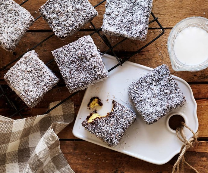 "**Classic lamingtons** Nothing beats fluffy sponge dipped in chocolate and rolled in coconut - fact. Whether it's Australia Day or just for morning tea, these lamingtons will hit the spot. <br><br> See the full *Australian Women's Weekly* recipe [here.](https://www.womensweeklyfood.com.au/recipes/classic-lamingtons-17017|target=""_blank"")"