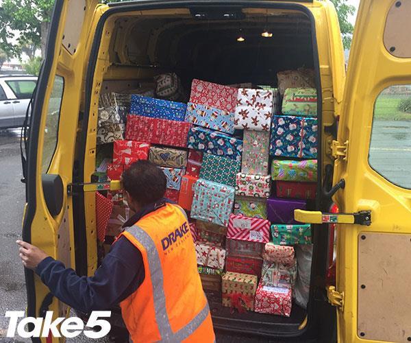 A van full of presents for Arakaura Kingergarten.